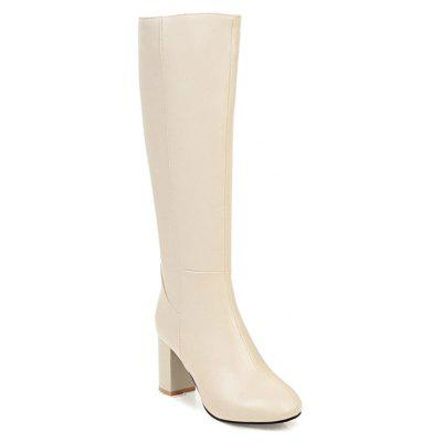 Buy BEIGE 34 Simple Fashionable European Style Female Boots for $72.71 in GearBest store