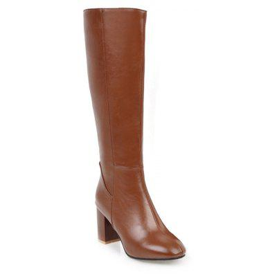 Buy BROWN 35 Simple Fashionable European Style Female Boots for $72.71 in GearBest store