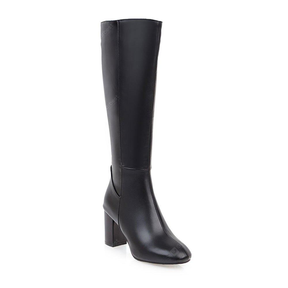 BLACK 37 Simple Fashionable European Style Female Boots