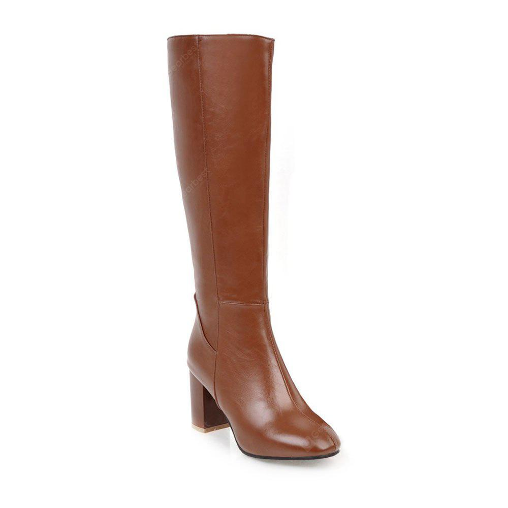 BROWN 35 Simple Fashionable European Style Female Boots