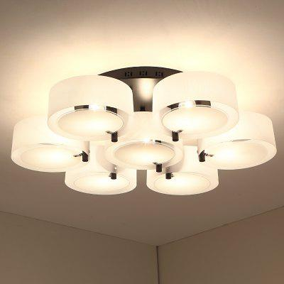 Contemporary Simple E27 Lamp Holder Ceiling Light for Bedroom Living RoomFlush Ceiling Lights<br>Contemporary Simple E27 Lamp Holder Ceiling Light for Bedroom Living Room<br><br>Battery Included: Non-preloaded<br>Bulb Base: E27<br>Bulb Included: No<br>Bulb Type: Incandescent<br>Decoration Material: Glass<br>Dimmable: No<br>Features: Mini Style, Eye Protection<br>Finish: Others<br>Fixture Height ( CM ): 21<br>Fixture Length ( CM ): 80<br>Fixture Material: Metal<br>Fixture Width ( CM ): 80<br>Light Direction: Ambient Light<br>Number of Bulb: 7 Bulbs<br>Number of Bulb Sockets: 7<br>Number of Tiers: Single Tier<br>Package Contents: 1 x Ceiling Lights, 6 x Chimney, 2 x Screw<br>Package size (L x W x H): 82.00 x 82.00 x 25.00 cm / 32.28 x 32.28 x 9.84 inches<br>Package weight: 6.5000 kg<br>Product weight: 6.0000 kg<br>Remote Control Supported: No<br>Shade Material: Glass<br>Stepless Dimming: No<br>Style: Modern/Contemporary<br>Suggested Room Size: 10 - 15?<br>Suggested Space Fit: Bedroom,Girls Room,Living Room<br>Type: Ceiling Light<br>Voltage ( V ): 220V - 240V<br>Wattage (W): 150W