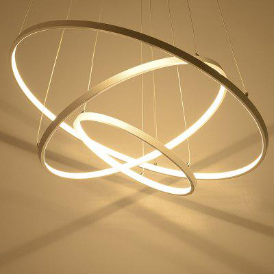 Buy GOLDEN Creative Ring Shape LED Pendant Light 48W Sitting Room Dining Room Lamp for $233.99 in GearBest store
