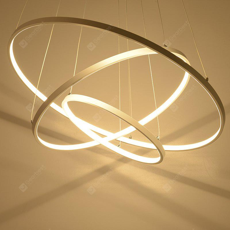 GOLDEN Creative Ring Shape LED Pendant Light 48W Sitting Room Dining Room Lamp
