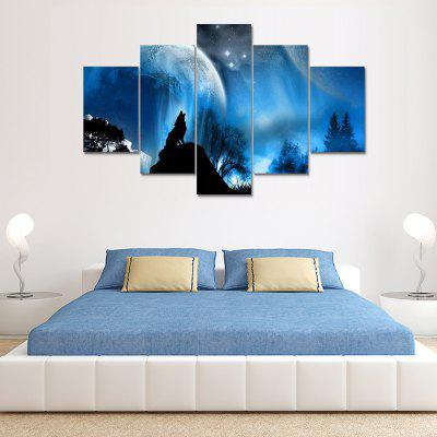 Wolf Canvas Print Painting Home Decoration 5PCS