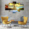 5 Panel Building Scenery Canvas Print Painting Home Decoration Wall Art Picture - COLORMIX