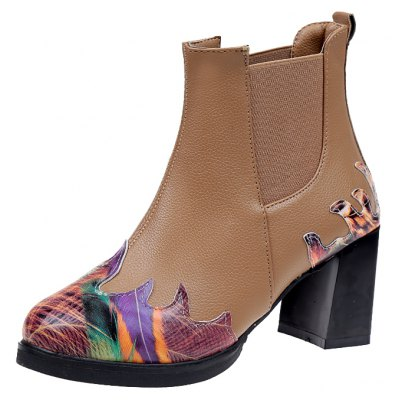 LF-A88 Set Foot All-match Fashion Color Printing Thick High-heeled Boots MartinWomens Boots<br>LF-A88 Set Foot All-match Fashion Color Printing Thick High-heeled Boots Martin<br><br>Boot Height: Ankle<br>Boot Type: Fashion Boots<br>Closure Type: Slip-On<br>Gender: For Women<br>Heel Type: Chunky Heel<br>Package Contents: 1xShoes?pair?<br>Pattern Type: Print<br>Season: Spring/Fall<br>Toe Shape: Round Toe<br>Upper Material: PU<br>Weight: 0.9360kg