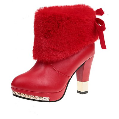 HSL-N1 Round Sleeve Feet High Heels Plush Bows Warm Martin BootsWomens Boots<br>HSL-N1 Round Sleeve Feet High Heels Plush Bows Warm Martin Boots<br><br>Boot Height: Ankle<br>Boot Type: Fashion Boots<br>Closure Type: Slip-On<br>Gender: For Women<br>Heel Type: Chunky Heel<br>Package Contents: 1xShoes?pair?<br>Pattern Type: Solid<br>Season: Winter<br>Toe Shape: Round Toe<br>Upper Material: PU<br>Weight: 1.0400kg