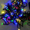 200LEDs 2W Solar Powered Colorful RGB Light String - BLACK