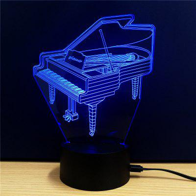 M.Sparkling TD109 Creative Music 3D LED Lamp3D Lamps<br>M.Sparkling TD109 Creative Music 3D LED Lamp<br><br>Brand: M.Sparkling<br>Feature: Rechargeable<br>Light Source Color: RGB<br>Package Content: 1xAcrylicBoard,1xABSPedestal,1xUSBCable,1xEnglishManual<br>Package Size ( L x W x H ): 24.00 x 17.00 x 5.00 cm / 9.45 x 6.69 x 1.97 inches<br>Product Size(L x W x H): 15.00 x 22.00 x 8.50 cm / 5.91 x 8.66 x 3.35 inches<br>Type: Creative Design<br>Voltage (V): 5V