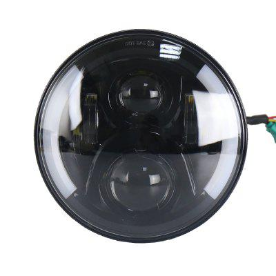 Buy BLACK 7Inch Round LED Headlights with DRL Halo Angel Eyes Turn Signal for Jeep Wrangler for $66.36 in GearBest store