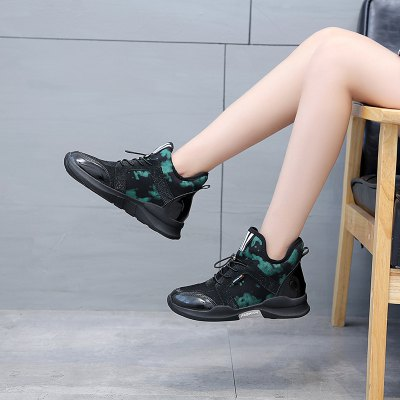 Autumn and Winter New Soft Bottom Sports Shoes Wild BreathableWomens Sneakers<br>Autumn and Winter New Soft Bottom Sports Shoes Wild Breathable<br><br>Available Size: 35-40<br>Closure Type: Lace-Up<br>Feature: Height Increasing<br>Gender: For Women<br>Insole Material: PU<br>Lining Material: Synthetic<br>Outsole Material: Rubber<br>Package Contents: 1 x  Shoes (pair)<br>Package size (L x W x H): 30.00 x 30.00 x 20.00 cm / 11.81 x 11.81 x 7.87 inches<br>Package weight: 1.0000 kg<br>Pattern Type: Patchwork<br>Season: Spring/Fall<br>Shoe Width: Medium(B/M)<br>Upper Material: Microfiber