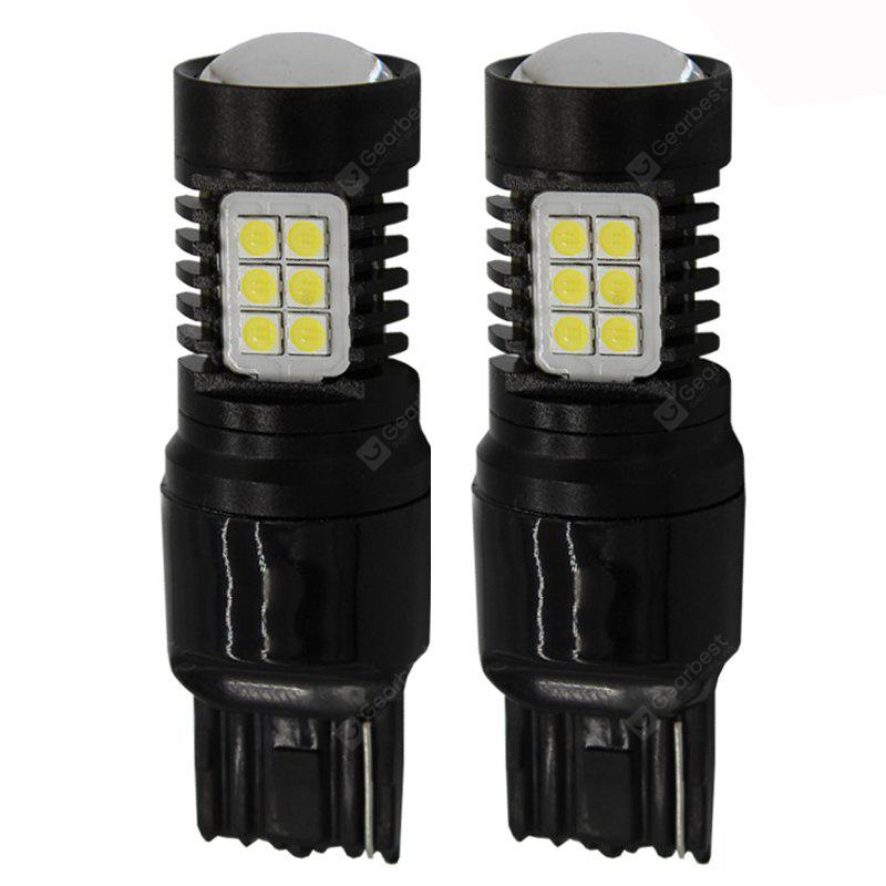 WHITE LIGHT 2PCS T20 / 7440 680LM LED Car Reversing Light