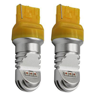Buy 2PCS T20 / 7440 30W Car LED Turn Light and Reversing Lamp YELLOW for $23.87 in GearBest store