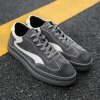 Men Running Sport Casual Sneakers Outdoor Travel Lace-Up Shoes - GRAY