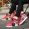 Couple Classic Style Youth Fashion Running High Top Sports Basketball Shoes Outdoor Sneakers - RED