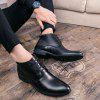 Male Business Inside Heighten Leather Shoes - BLACK