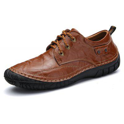Business Men Shoes Genuine Leather High Quality Soft Casual Breathable FlatsMen's Oxford<br>Business Men Shoes Genuine Leather High Quality Soft Casual Breathable Flats<br><br>Available Size: 39-44<br>Closure Type: Lace-Up<br>Embellishment: None<br>Gender: For Men<br>Insole Material: TPR<br>Occasion: Casual<br>Outsole Material: Rubber<br>Package Contents: 1?Shoes(pair)<br>Pattern Type: Solid<br>Season: Winter, Spring/Fall<br>Shoe Width: Medium(B/M)<br>Toe Shape: Round Toe<br>Toe Style: Closed Toe<br>Upper Material: Genuine Leather<br>Weight: 1.2000kg