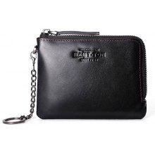 Hautton Wallet for Men Travel and Work Genuine Leather Accordion Style Money Clip Organizer with Key Chain