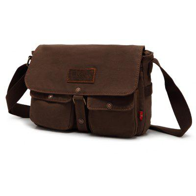 Buy AUGUR 2017 Fashion Crossbody Casual Vintage Canvas For Men Travel Male Messenger Bags COFFEE for $26.06 in GearBest store