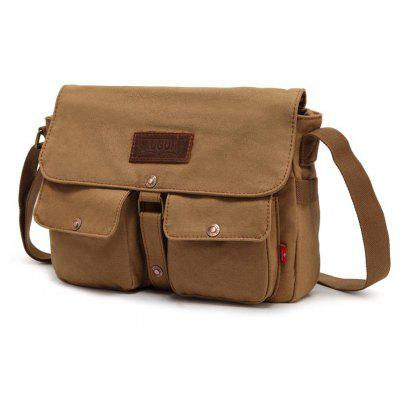 Buy AUGUR 2017 Fashion Crossbody Casual Vintage Canvas For Men Travel Male Messenger Bags KHAKI for $26.06 in GearBest store