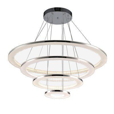 Luxury Acrylic Pendant Light Indoor Decorative Modern Hanging Lamp 76WPendant Light<br>Luxury Acrylic Pendant Light Indoor Decorative Modern Hanging Lamp 76W<br><br>Battery Included: Non-preloaded<br>Bulb Base: None<br>Bulb Included: Yes<br>Bulb Type: LED<br>Certifications: CE,FCC,RoHs<br>Chain / Cord Adjustable or Not: Chain / Cord Not Adjustable<br>Chain / Cord Length ( CM ): 150<br>Color Temperature or Wavelength: 3000K<br>Decoration Material: Acrylic<br>Dimmable: No<br>Features: Bulb Included, Eye Protection, Matte<br>Finish: Electroplated,Iron,Stainless Steel<br>Fixture Height ( CM ): 6<br>Fixture Length ( CM ): 80<br>Fixture Material: Acrylic,Metal<br>Fixture Width ( CM ): 80<br>Light Direction: Ambient Light<br>Light Source Color: Warm White<br>Number of Tiers: Four Tier<br>Package Contents: 1 x Pendant Light<br>Package size (L x W x H): 87.00 x 87.00 x 13.00 cm / 34.25 x 34.25 x 5.12 inches<br>Package weight: 12.6000 kg<br>Product weight: 10.6000 kg<br>Remote Control Supported: No<br>Shade Material: Acrylic<br>Stepless Dimming: No<br>Style: Chic &amp; Modern, Artistic Style, LED, Modern/Contemporary, Simple Style<br>Suggested Room Size: 15 - 20?<br>Suggested Space Fit: Bedroom,Boys Room,Cafes,Dining Room,Entry,Game Room,Garage,Girls Room,Indoors,Kids Room,Living Room,Office,Study Room<br>Type: Pendant Light<br>Voltage ( V ): 100V - 240V<br>Wattage (W): &gt;20
