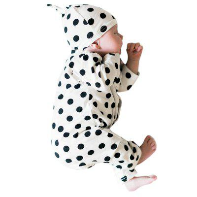 Newborn Clothes Cool Baby Boys Girls Long Sleeve Top Romper+Hat 2Pcs Outfit Set