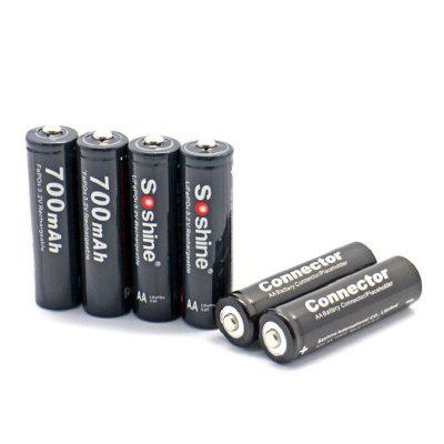 Soshine 14500 / AA Lifepo4 Battery Kit 700mAh