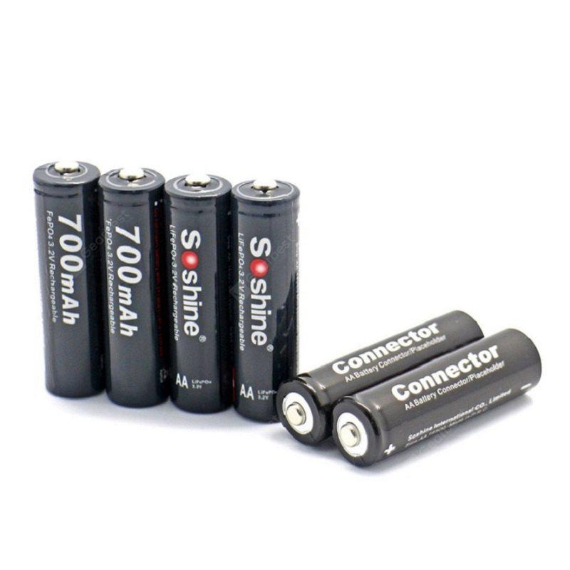 Soshine 14500 / AA Lifepo4 Kit de Bateria 700mAh