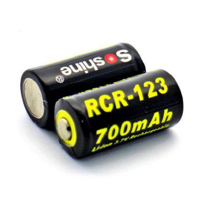 Soshine Li-ion CR123 Battery 16340 700mAh 2PCS