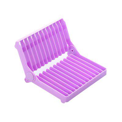 Atongm Folding Dish Plates Rack Foldable Home Vegetable Frutas Drying Washing Holder Organizer