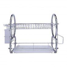 Atongm Dish Rack Kitchen Dish Cup Tray Cutlery Plate Drying Rack Drainer Dryer Holder Organizer