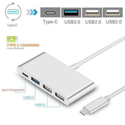 Maikou USB 3.1 Type-C to 3-Port USB Hub with Type-C Charging Port Adapter