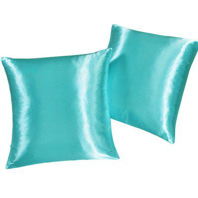 Fake Silk Invisible Zipper Travesseiro 2PCS