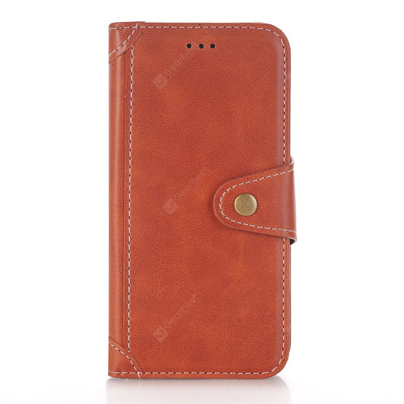 BROWN Stitching Colours Card Lanyard Pu Leather Cover for Samsung Galaxy S6
