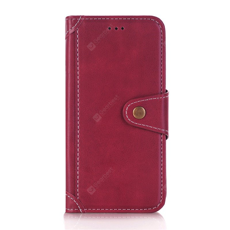 RED Stitching Colours Card Lanyard Pu Leather Cover for Samsung Galaxy S6