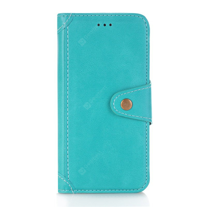OASIS Stitching Colours Card Lanyard Pu Leather Cover for Samsung Galaxy S6