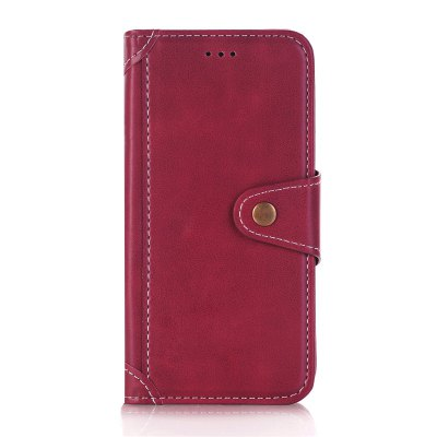 Buy RED Stitching Colours Card Lanyard Pu Leather Cover for Samsung Galaxy S7 Edge for $6.04 in GearBest store