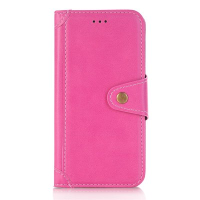 Buy ROSE RED Stitching Colours Card Lanyard Pu Leather Cover for Samsung Galaxy S7 Edge for $6.04 in GearBest store