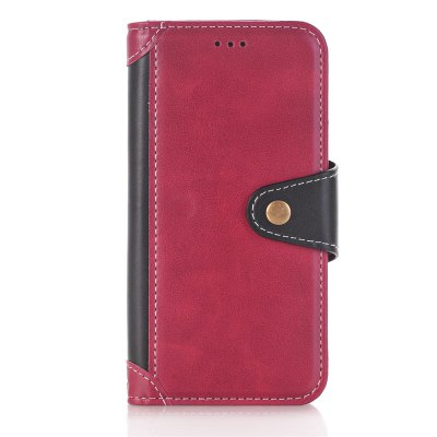 Buy RED + BLACK Stitching Colours Card Lanyard Pu Leather Cover for Samsung Galaxy S7 Edge for $6.04 in GearBest store