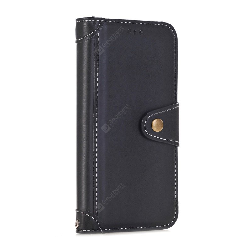 Stitching Colors Card Lanyard Pu Leather Cover para iPhone 6