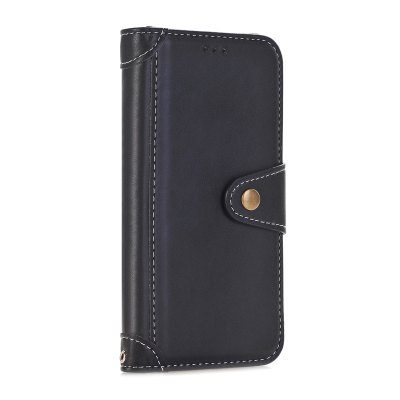 Stitching Colors Card Lanyard Pu Leather Cover para iPhone 6 Plus