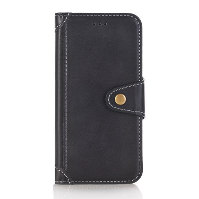 Stitching Colors Card Lanyard Pu Leather Cover para iPhone 8 Plus