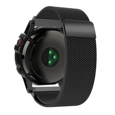 Buy Milanese Loop Mesh Smooth Stainless Steel Strap Freely Fully Magnetic Closure Clasp Metal Strap Wrist Band Replacement Bracelet for Garmin Fenix 3 Fenix 5X Watchbands BLACK for $22.23 in GearBest store