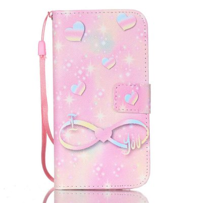 Buy PINK + YELLOW New Painted PU Phone Case for Samsung Galaxy S7 for $5.36 in GearBest store