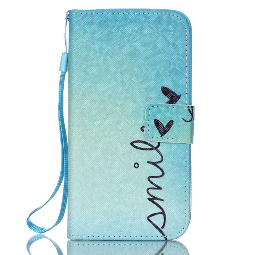 BLUE New Painted PU Phone Case for Samsung Galaxy S7