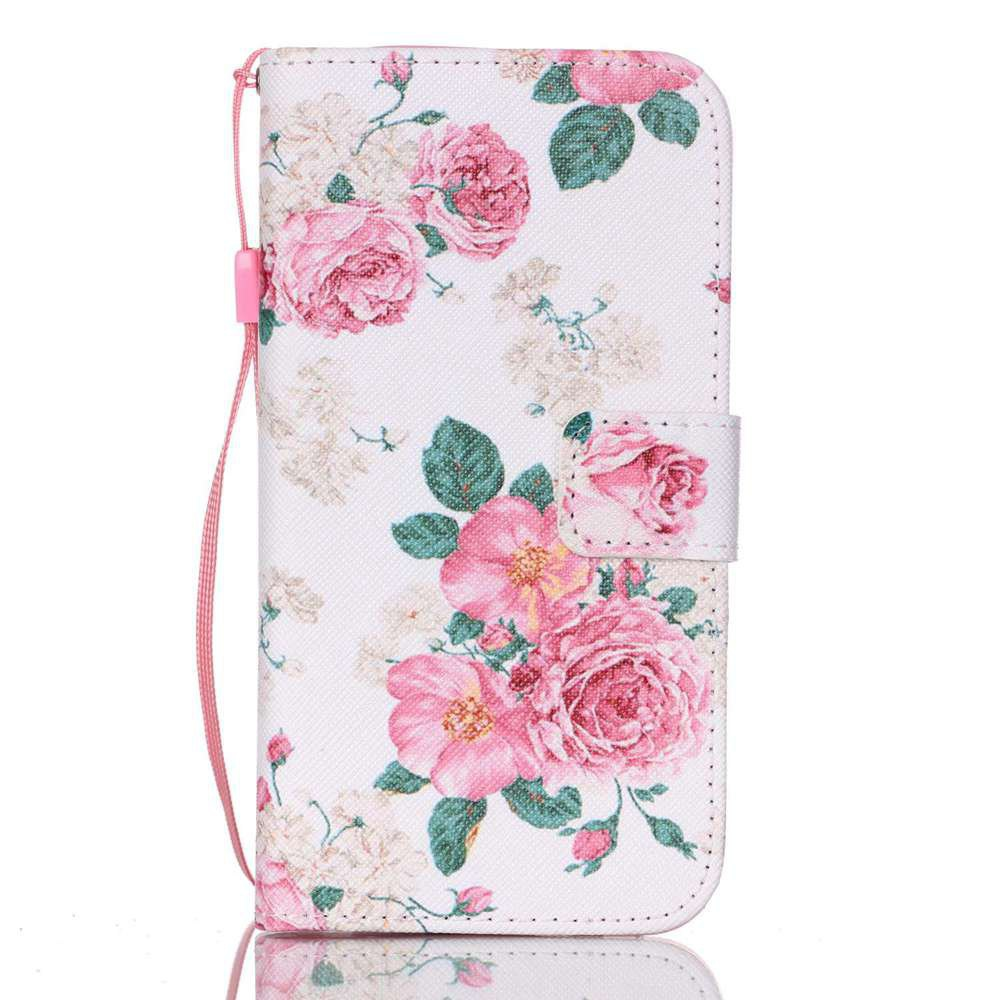WHITE New Painted PU Phone Case for Samsung Galaxy S7