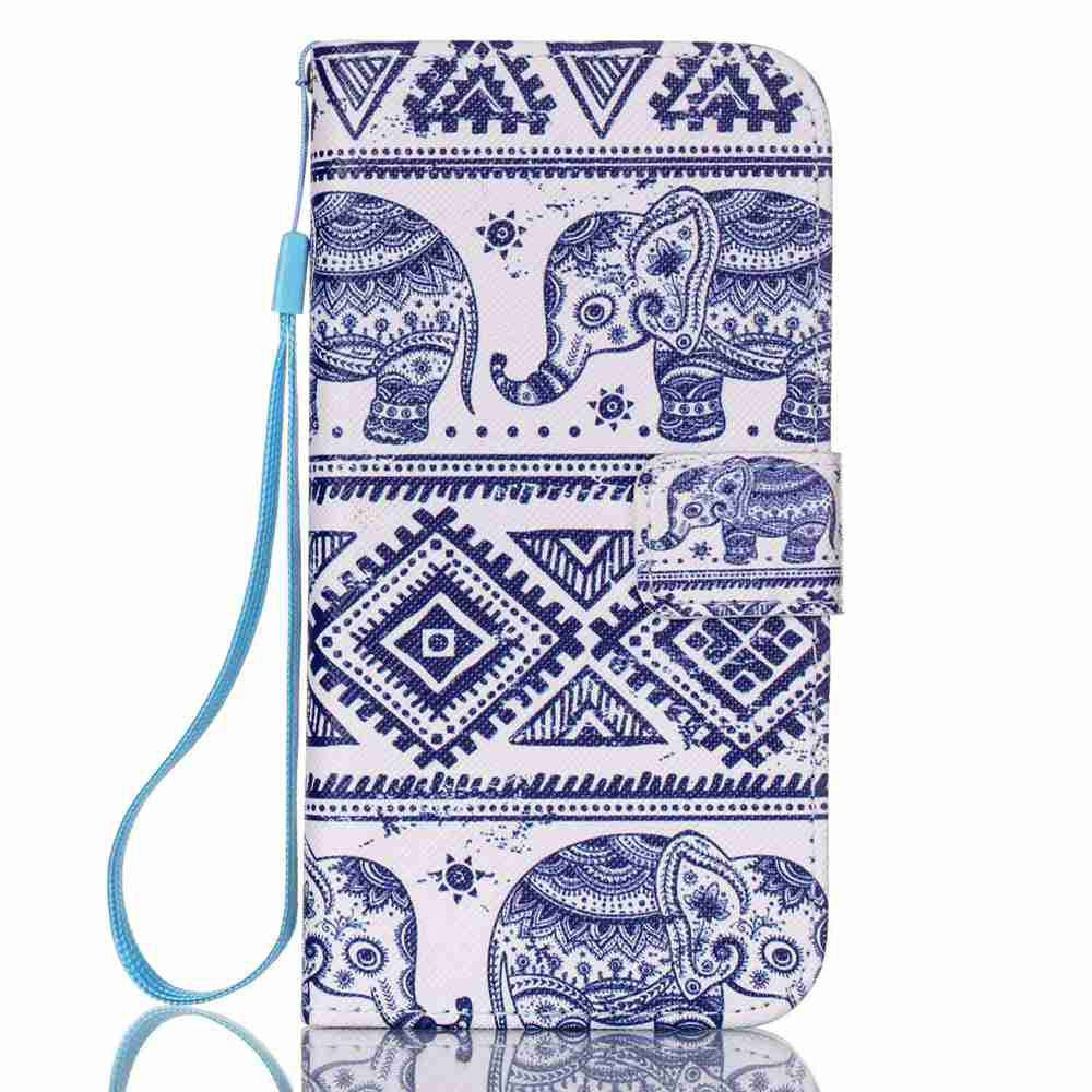 SHEN LAN New Painted PU Phone Case for Samsung Galaxy S7
