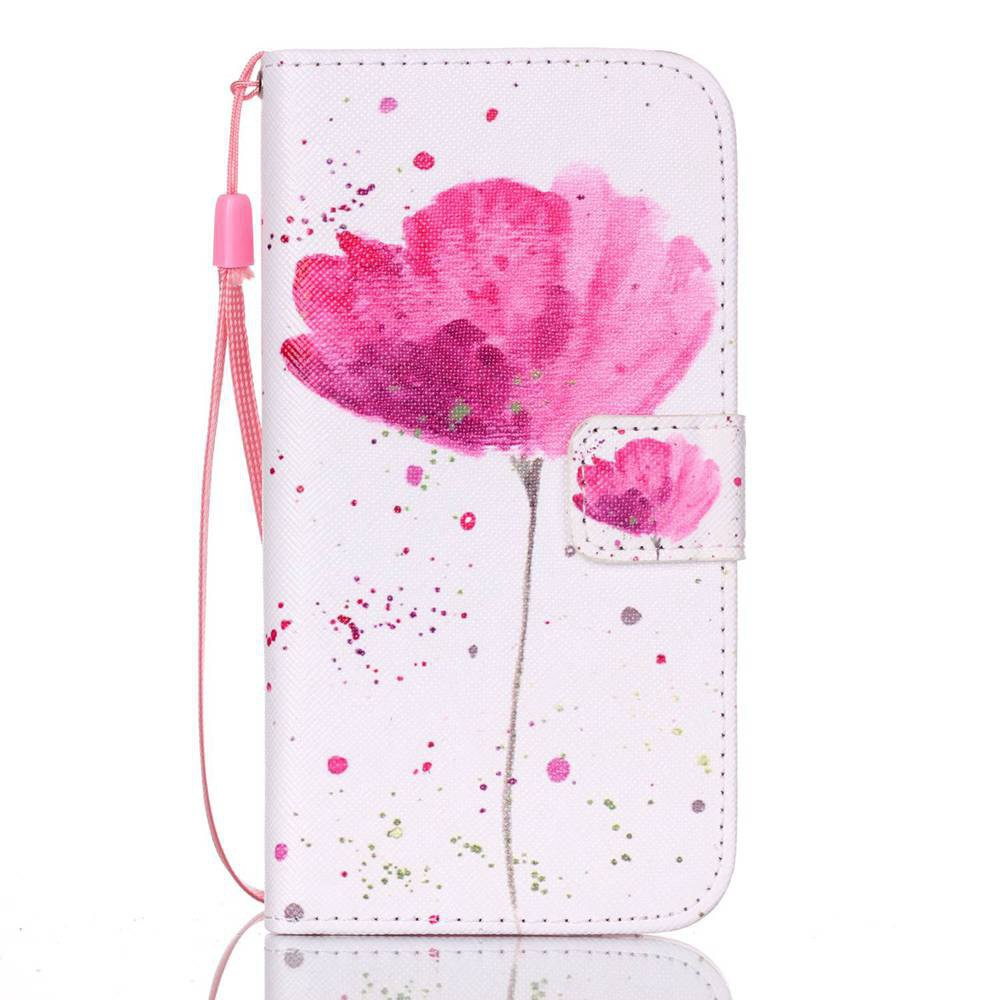 PINK + WHITE New Painted PU Phone Case for Samsung Galaxy S7