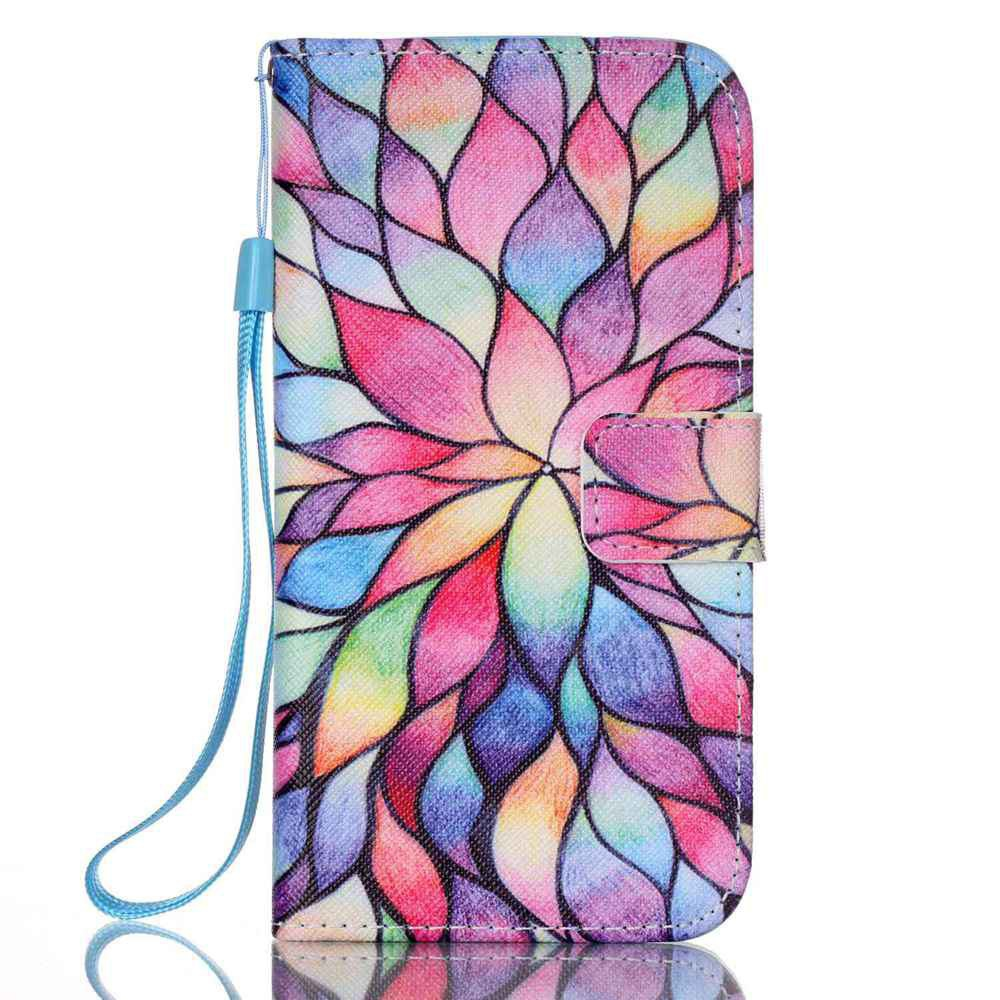 BLUE PINK New Painted PU Phone Case for Samsung Galaxy S7