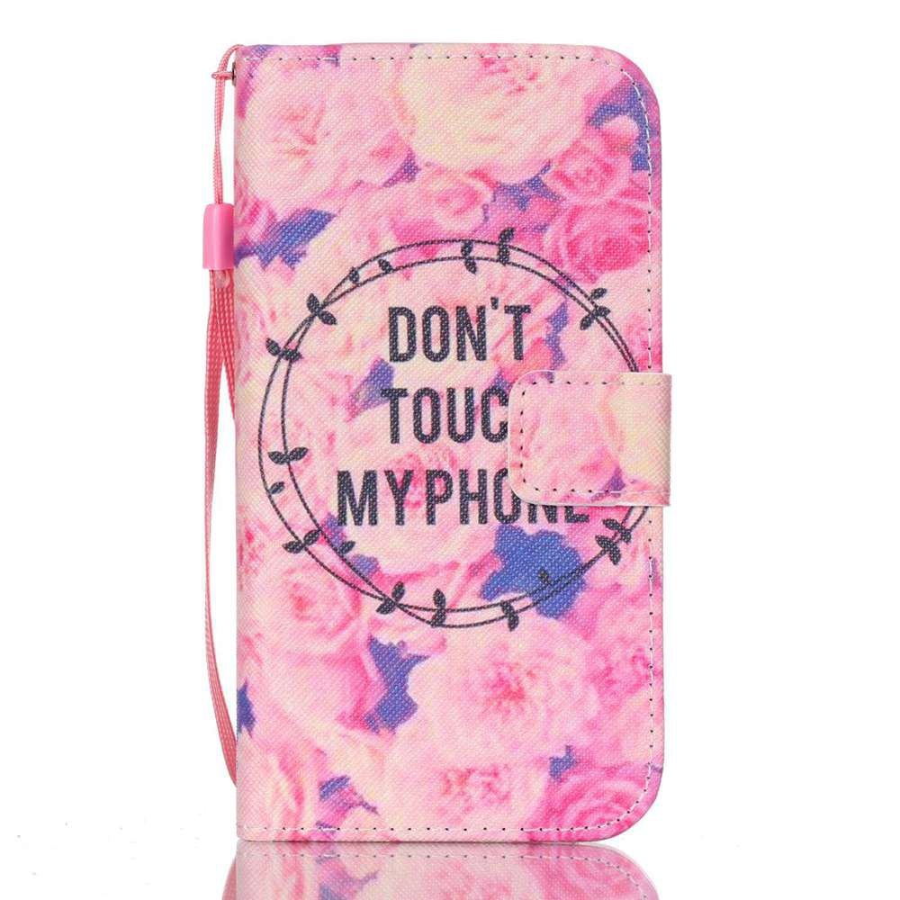 PINKISH BLUE New Painted PU Phone Case for Samsung Galaxy S7